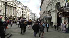 Piccadily Circus London 7 handheld Stock Footage
