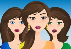 Girls Stock Illustration