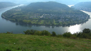 Stock Video Footage of Tilt curve of Boppard Rhine river valley Rhineland-Palatinate Germany