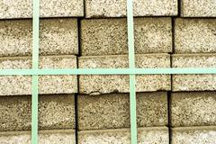 Stock Photo of packed clinker bricks