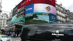 Piccadily Circus London 15 handheld Stock Footage