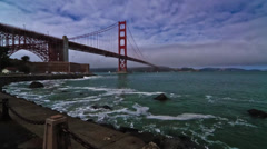 Golden Gate Bridge, Timelapse, San Francisco, California, United States Stock Footage