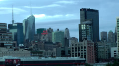 New York 167HD Manhattan Hells Kitchen in the Morning seen from Hudson River Stock Footage