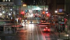 Queen St. and Bay St. Timelapse. Stock Footage
