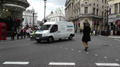 Piccadily Circus London 23 Stock Footage