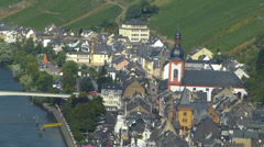 Mosel Moselle Zell river valley Rhineland-Palatinate Germany Stock Footage