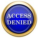 Stock Illustration of access denied icon
