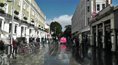 South Kensington London 1 handheld Stock Footage