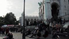 Montmartre Popular party, Paris - tilt  Stock Footage