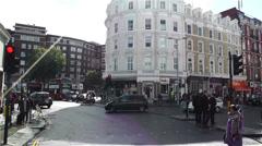 South Kensington London 2 handheld Stock Footage