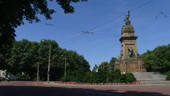 THE HAGUE, Monument at Plein 1813 + pan Stock Footage