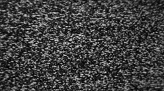 Static TV noise old CRT big grain - stock footage