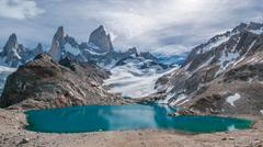 fitz roy mountain and laguna de los tres, patagonia, argentina - stock photo