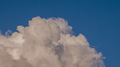 Time-lapse of clouds billowing and exploding Stock Footage