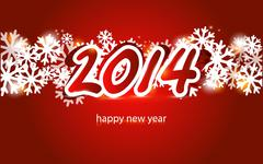 new year 2014 card - stock illustration