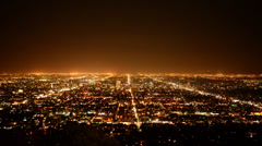 Time Lapse of Los Angeles from Griffith Observatory   - 4K - stock footage
