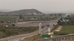 Motorway near Valparaiso, Chile Stock Footage