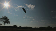 Stock Video Footage of A man is kiting, wideangle