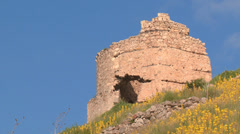 ruins of ancient fortresses - stock footage