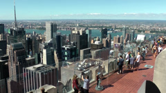 Stock Video Footage of New York 208HD Manhattan, Rockefeller Center, lower Observation Deck, View West