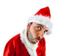 wow santa claus - stock photo