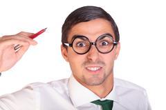 executive agressive - stock photo