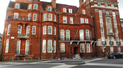 Typical English Building London 1 handheld Stock Footage