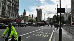 Westminster London British Parliament 1 handheld Stock Footage