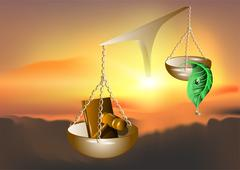Nature and the law Stock Illustration