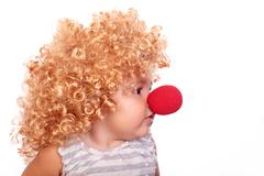Clown baby Stock Photos