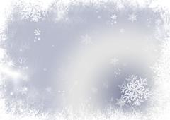 snow flake christmas background - stock illustration