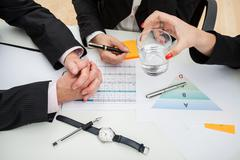 time-consuming meeting - stock photo