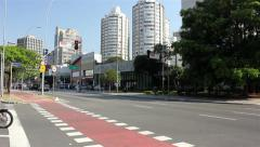 Brigadeiro Faria Lima Avenue of Sao Paulo city Stock Footage