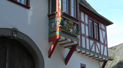 Tilt Germany Hessen Limburg nostalgic Timbered House - stock footage