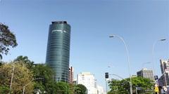 Brigadeiro Faria Lima Avenue of Sao Paulo city - stock footage