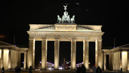 Stock Video Footage of Brandenburger Tor at night