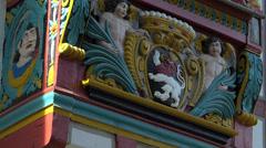 Tilt Germany Hessen Limburg nostalgic Timbered House - stock footage