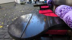 Tilt Germany Hessen Limburg nostalgic Timbered House restaurant - stock footage