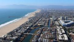 Stock Video Footage of HD Los Angeles Aerial Shot Pacific Ocean Coast