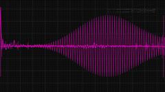Audio waveform 03 Stock Footage