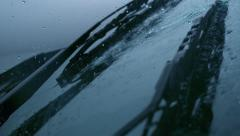 Windshield wiper with rain, Slow Motion Stock Footage
