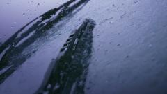 Windshield wiper with rain, Slow Motion - stock footage