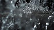 Stock Video Footage of Water fall on steel sheet, Slow Motion
