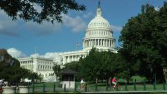 US Capitol zoom out to EWS Stock Footage