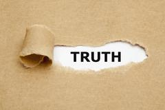 Truth torn paper Stock Photos