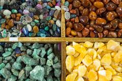 Background from semi-precious stones - stock photo