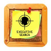 Executive Search. Yellow Sticker on Bulletin. Stock Illustration