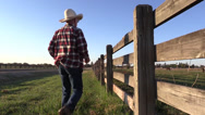 Stock Video Footage of Cowboy horse rancher