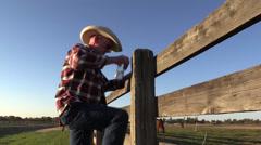 Cowboy hevonen rancher Arkistovideo