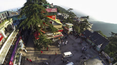 Mcleod ganj main square top shot time lapse Stock Footage